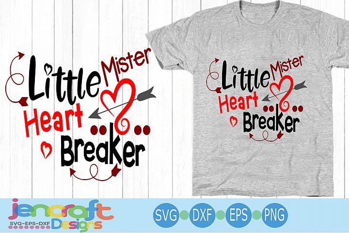 Valentine svg - Little Mister Heartbreaker svg Toddler Baby