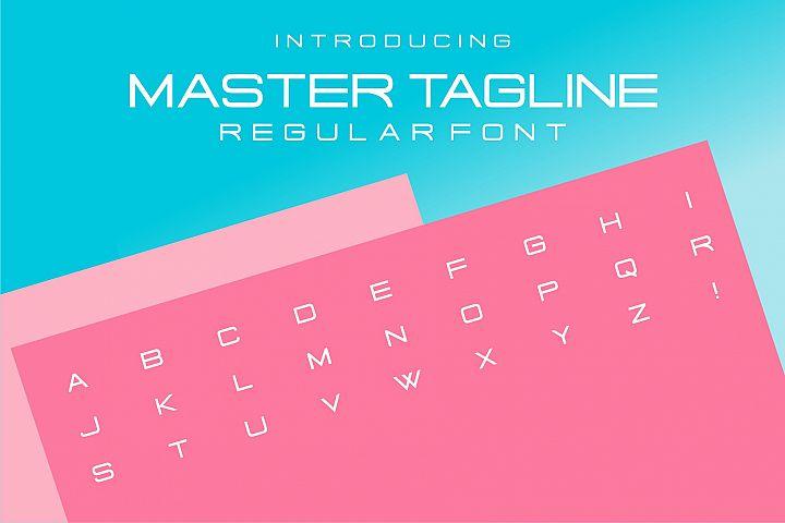 Master Tagline Logo Font