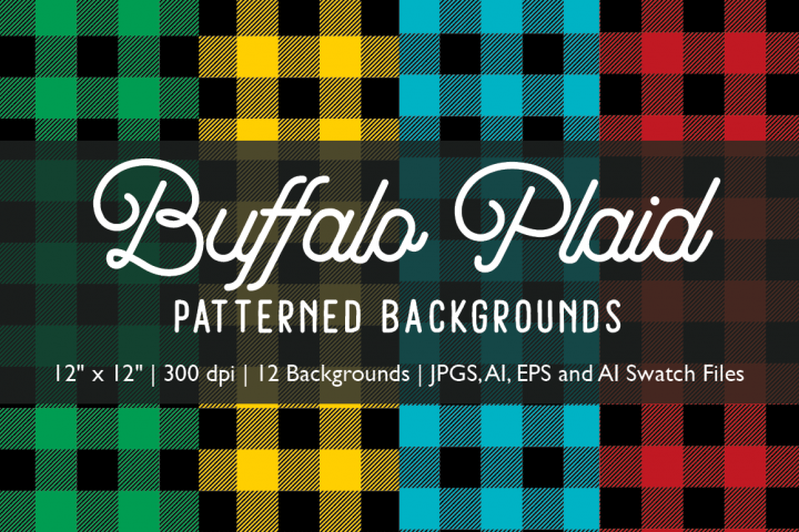 Buffalo Plaid Patterned Backgrounds