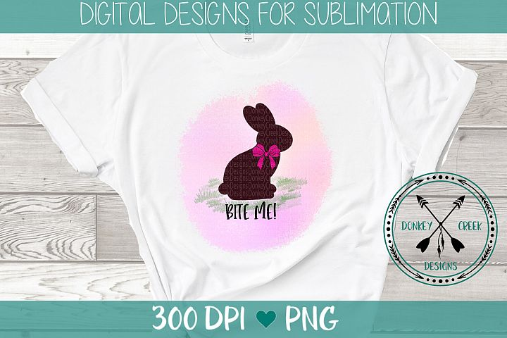Chocolate Easter Bunny Sublimation Design