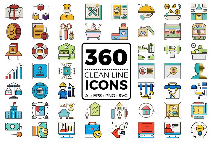 Clean Line Icons