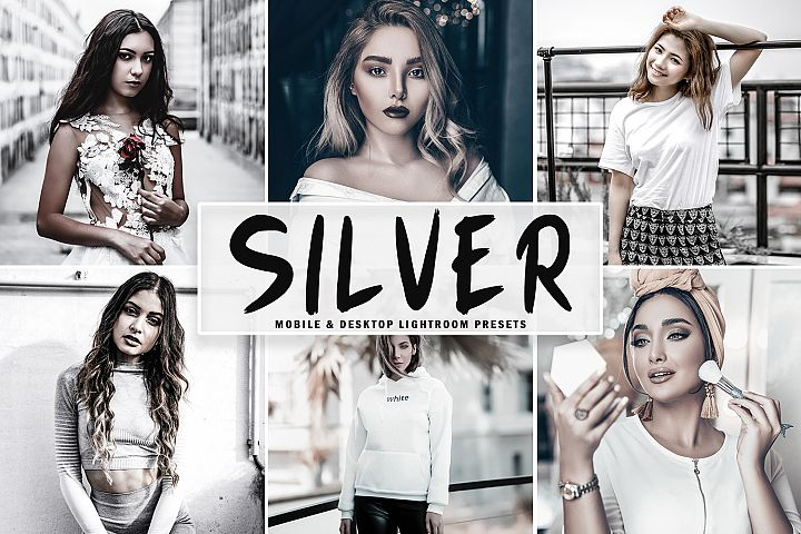 Silver Mobile & Desktop Lightroom Presets