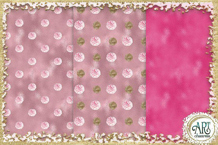 Glitter digital paper-pink,white,gold-digital textures JPEG example 3