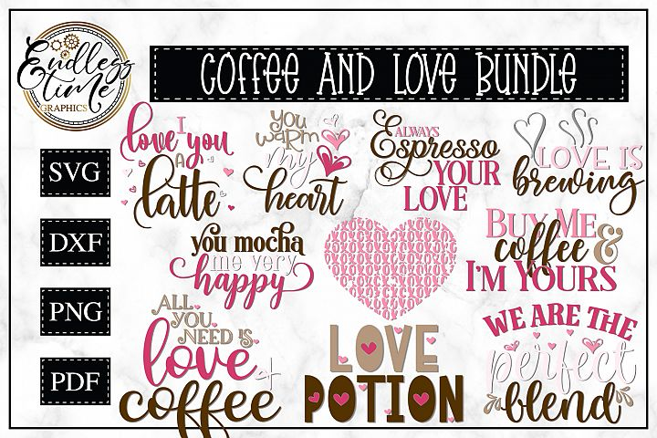 Coffee and Love Bundle - Another Valentines Bundle