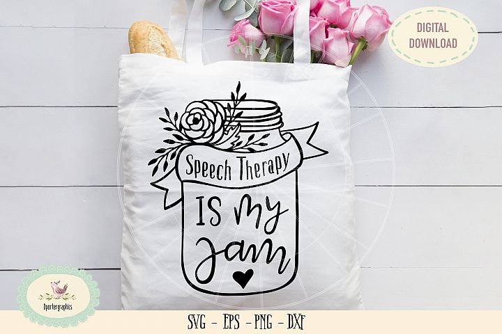 speech therapy is my jam SVG PNG hand lettered