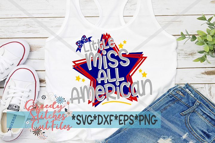 Little Miss All American SVG| July 4th | Independence Day