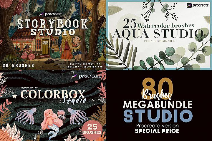Studio Bundle - Procreate 80 brushes