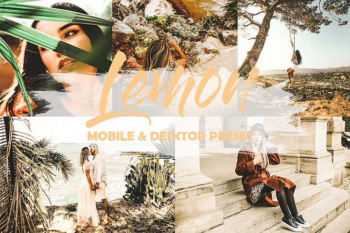 5 Mobile and Desktop Lightroom Presets Lemon