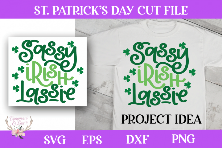 St. Patricks Day SVG - Sassy Irish Lassie