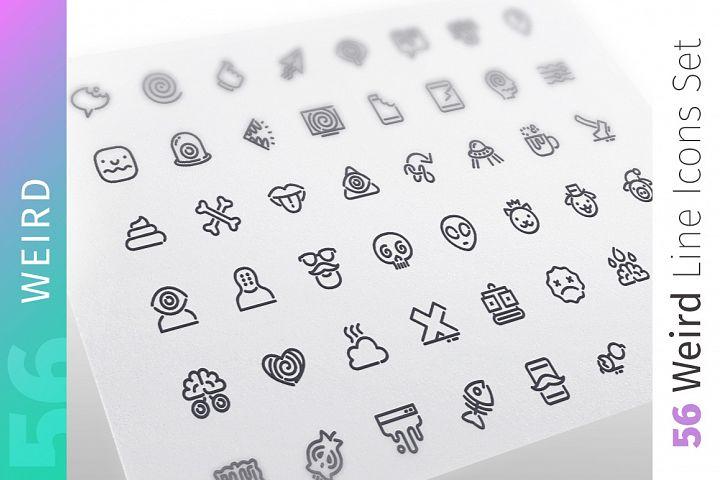 Weird Line Icons Set
