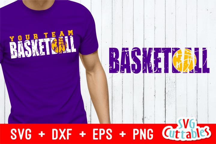 Distressed Basketball   Cut File