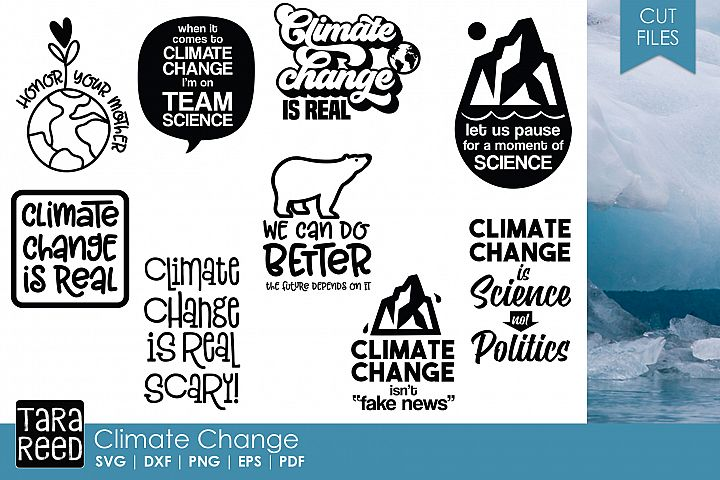 Climate Change - Conservation SVG and Cut Files for Crafters