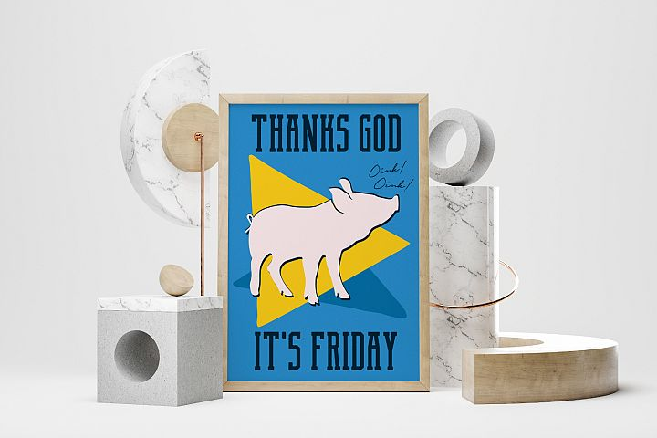 TGIF SVG A4 Poster Its Friday Tshirt svg Cut File Fun Print