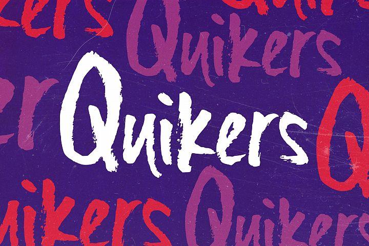 Quikers - Brush Font