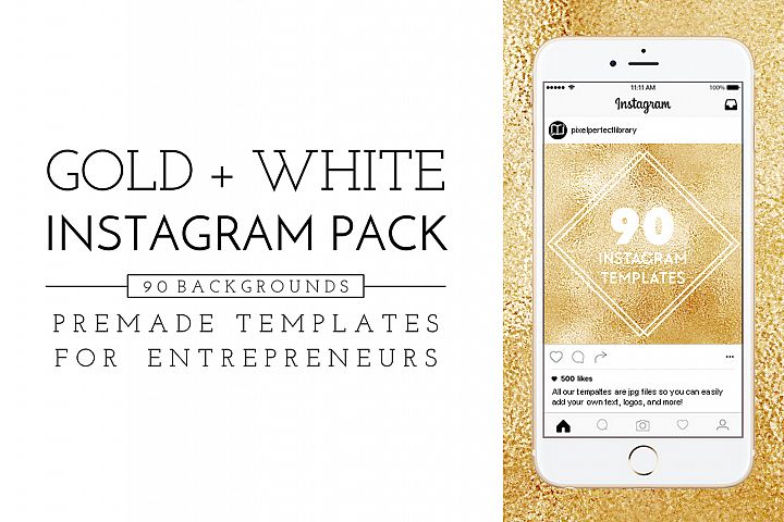 Gold and White Instagram Pack