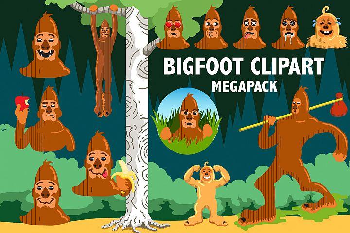 Bigfoot Clipart Megapack
