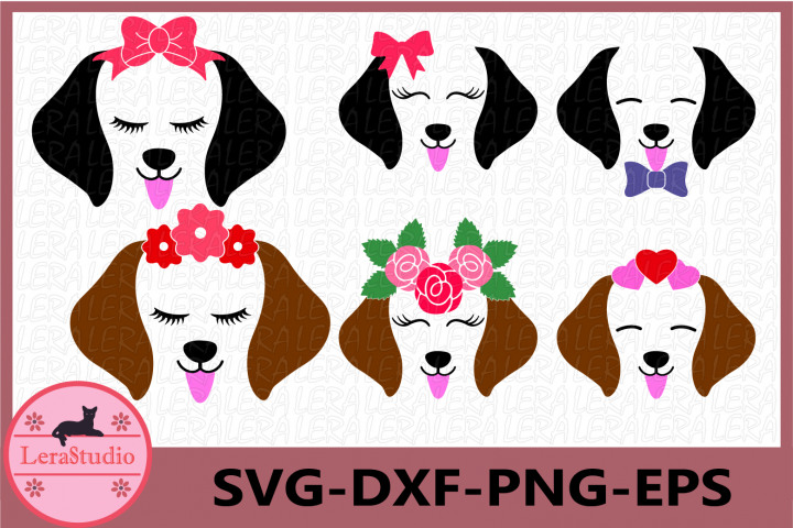 Dog SVG, Puppy Svg, Dog Face Svg, Dog svg, eps, png, dxf