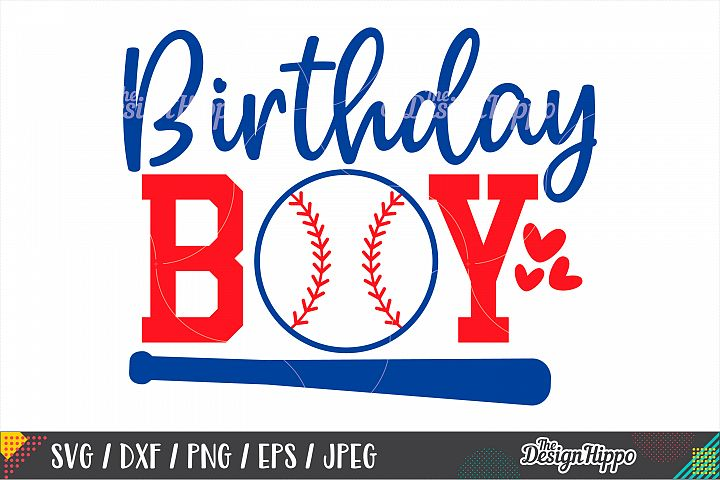 Baseball Birthday Boy SVG DXF PNG EPS Cutting Files
