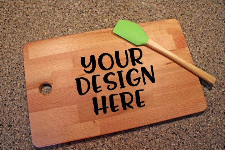 Kitchen Cutting Board Mock Up Mockup