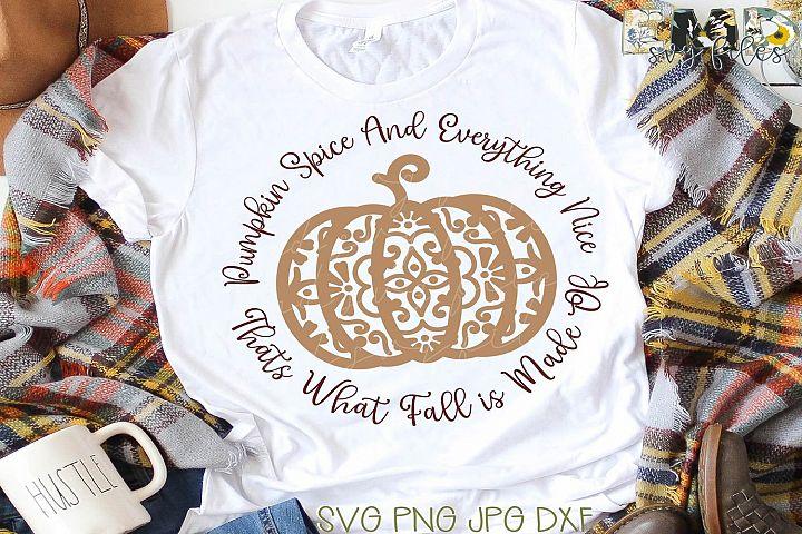 Fall Pumpkin Spice SVG File | Thanksgiving Svg