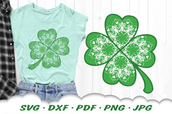 Mandala Lucky Clover SVG DXF Cut Files