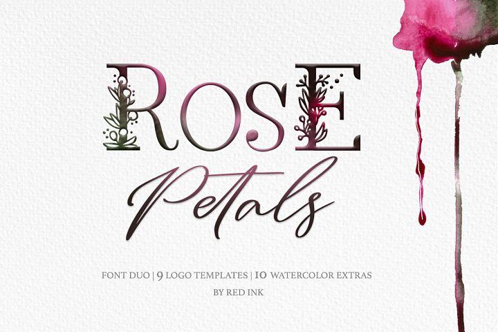 Rose Petals. Font duo Bonuses.