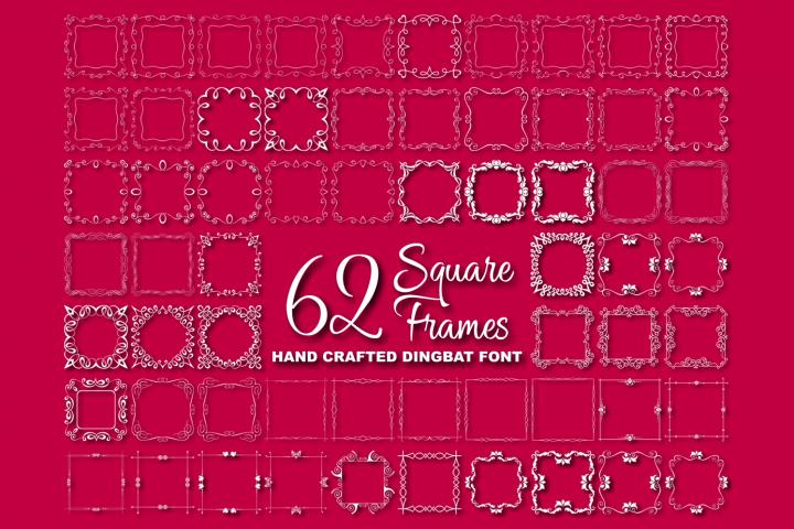 Square Frames Dingbat Font