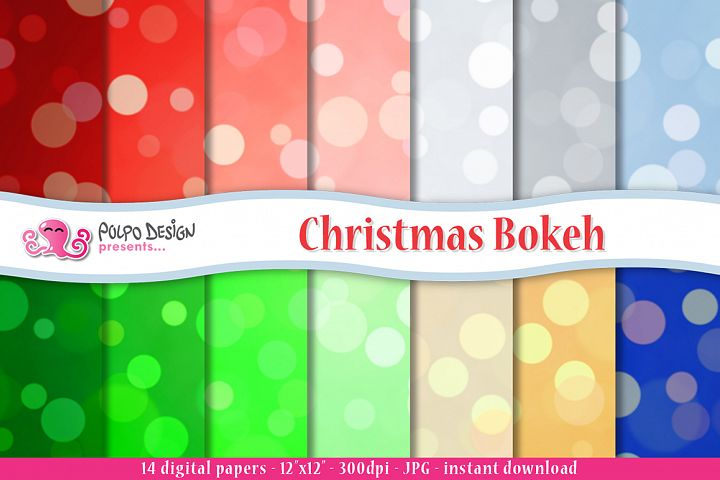 Christmas Bokeh digital paper