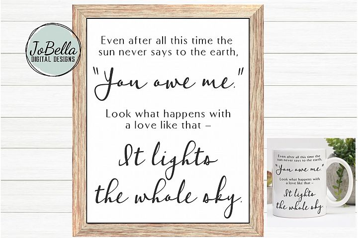 Grateful SVG and Printable Inspirational Quote by Hafiz
