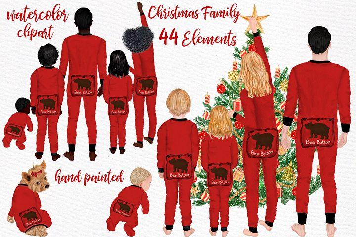 Watercolor Christmas Family Clipart Christmas Mug designs
