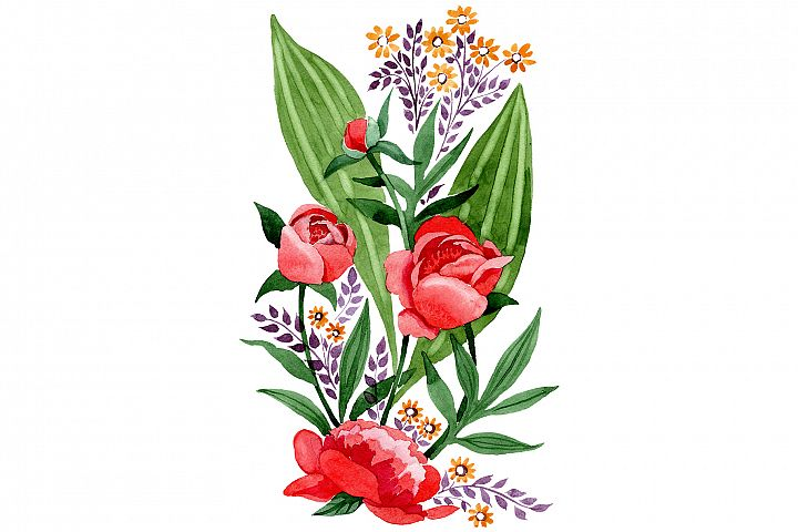 Ornament red free Ukraine watercolor png