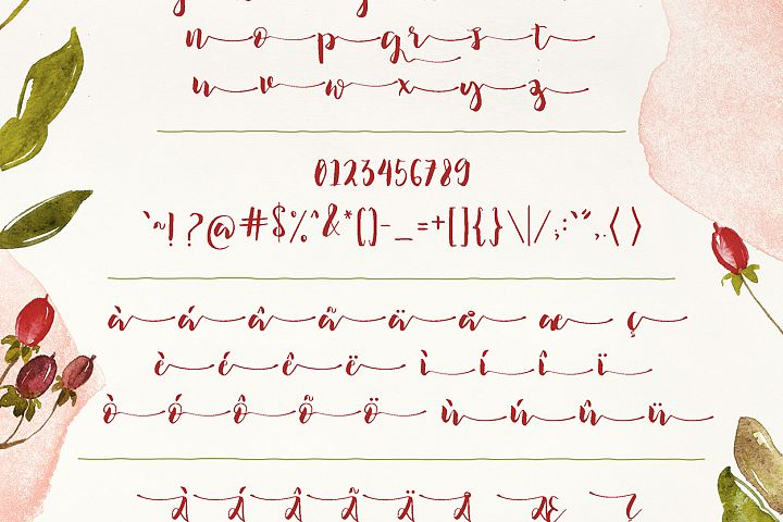 Ilana Bloom - Free Font of The Week Design 5