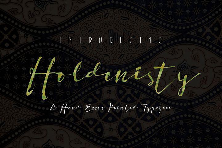 Holdenisty Typeface