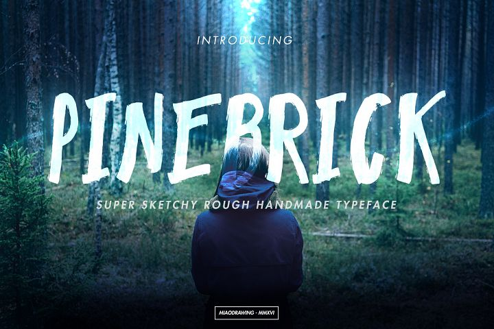 Pinebrick Typeface - Free Font of The Week Font