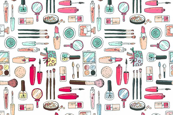 Doodle cosmetics, fashion, spa and beauty. Vector. - Free Design of The Week Design 3