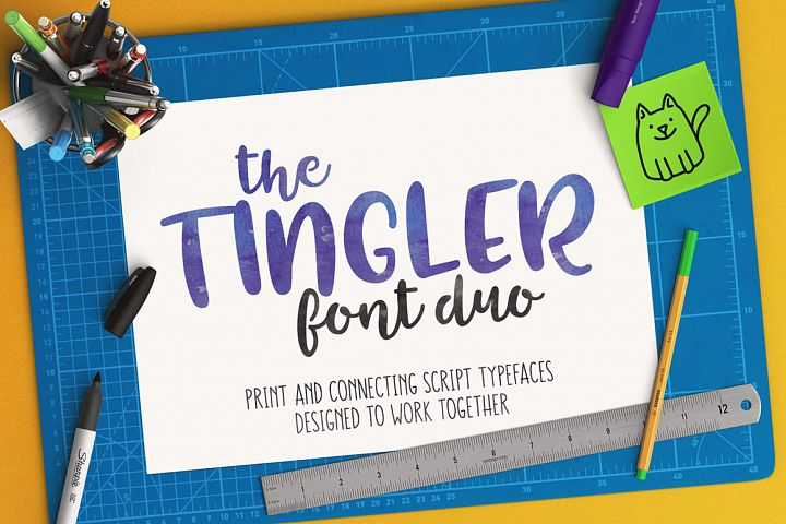 The Tingler - a font duo with stencil style!