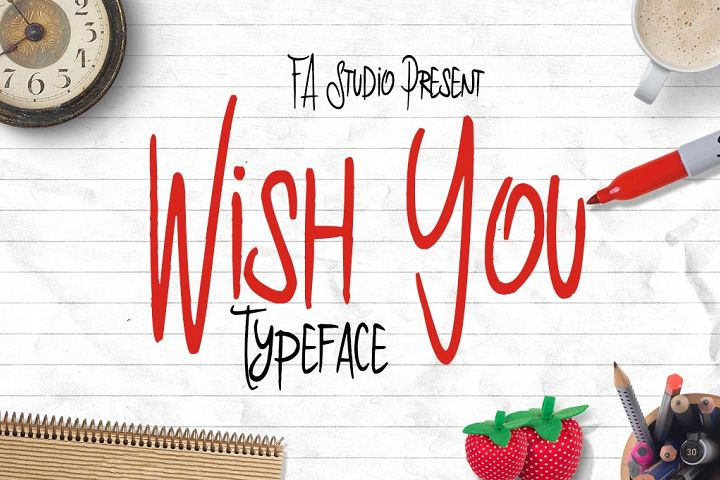 Wish You Typeface example