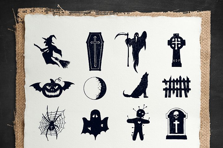 Halloween. 50 Hand Drawn Objects - Free Design of The Week Design 4