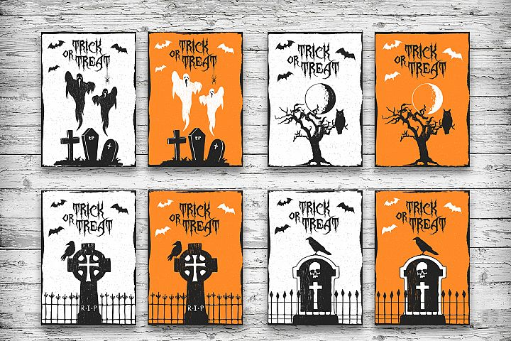 Halloween. 20 Greeting Cards - Free Design of The Week Design 4
