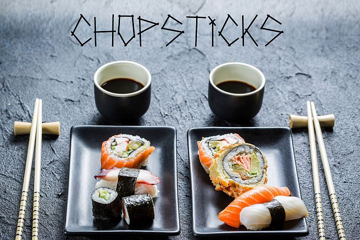 Chopsticks display typeface