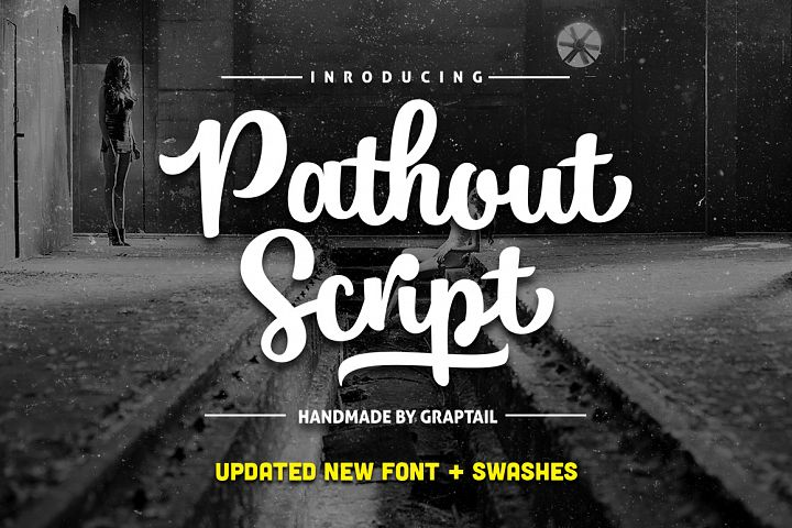 Pathout Script - Free Font of The Week Design 1