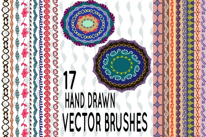 Hand drawn vector pattern brushes