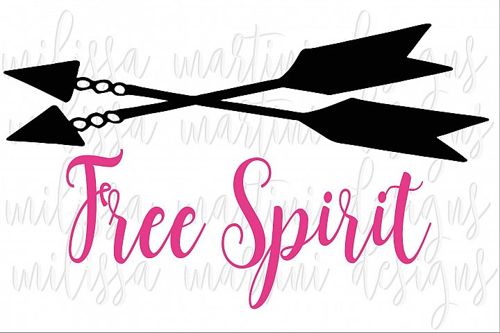 Free Spirit SVG Cut File example 3