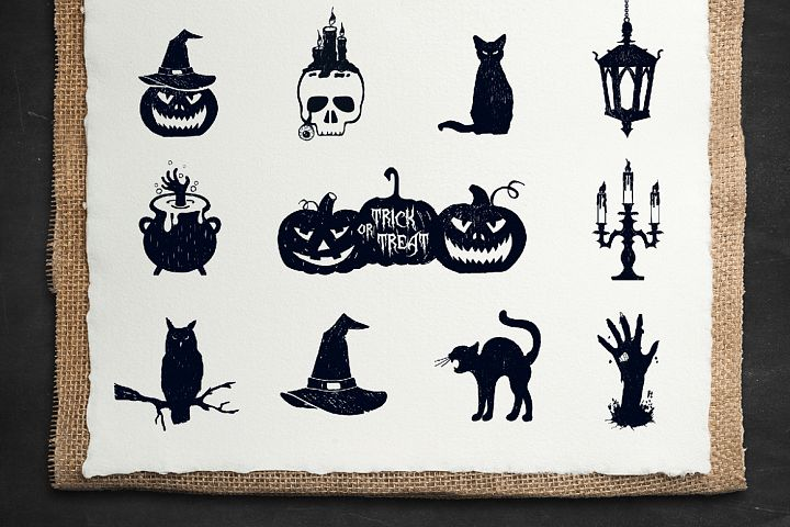Halloween. 50 Hand Drawn Objects - Free Design of The Week Design 3