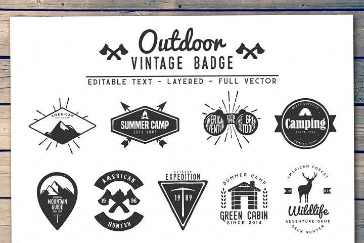 Outdoor Vintage Badge