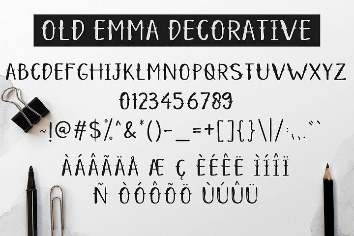 Old Emma - Free Font of The Week Design 5