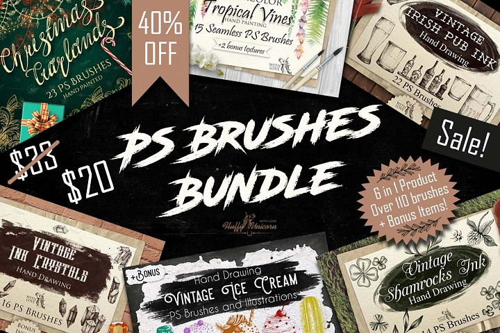 40%OFF! PS Brushes Bundle