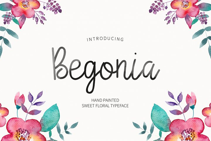 Begonia - Free Font of The Week