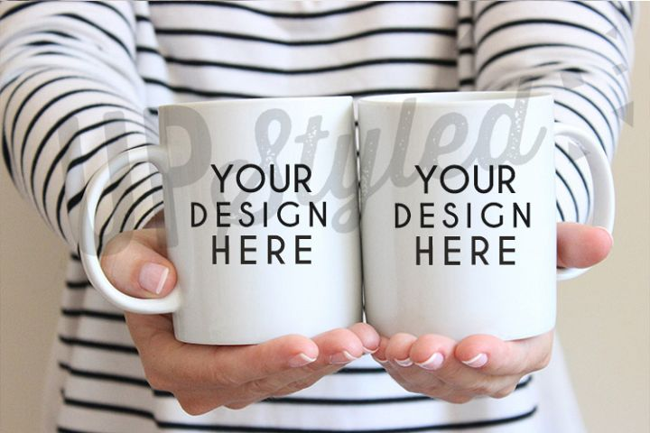 Two Coffee Mugs Stock Photo F165