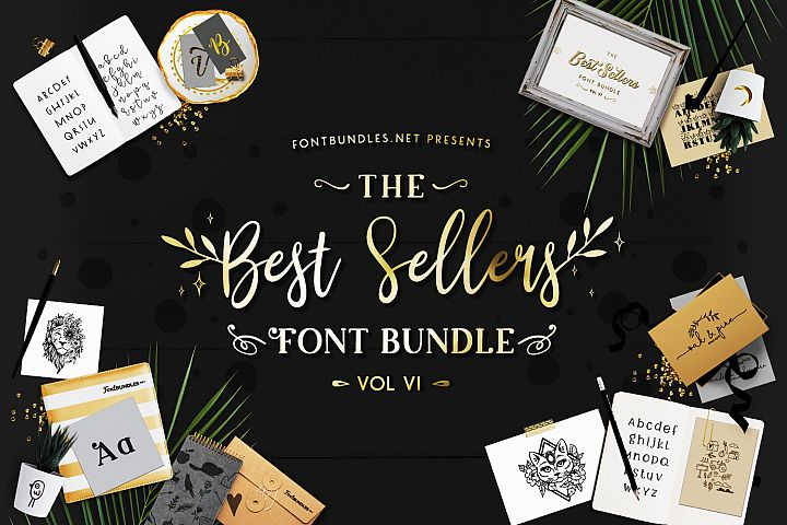 The Best Sellers Font Bundle VI